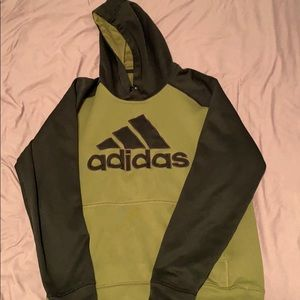 Army green and black adidas hoodie